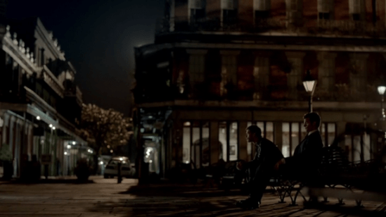 Elijah & Klaus enjoying a nice New Orleans evening