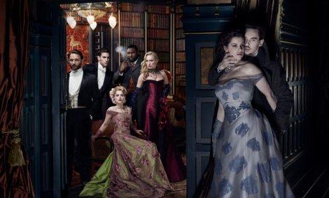 "The cast, left to right: ""Ignore him he's Dead"", Harker, Lucy, Renfield, Femme Fatale, Mina's Anatomy & Vlad III"