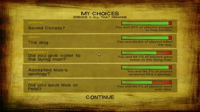 Choices, choices