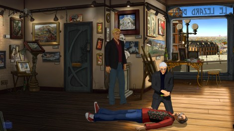 A stiff, a priest and an art gallery. Yep, this is Broken Sword