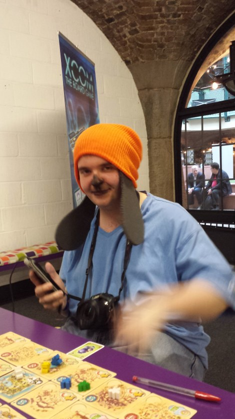 The awesome Timlah in his PaRappa the Rapper cosplay during our Five Tribes game