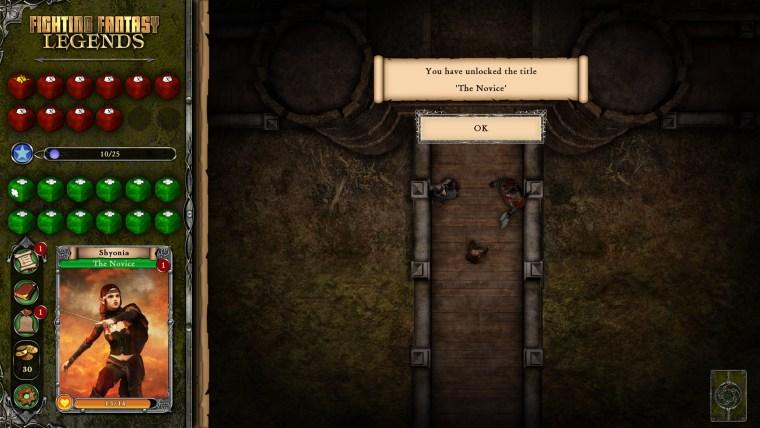 Fighting Fantasy Legends - Interface