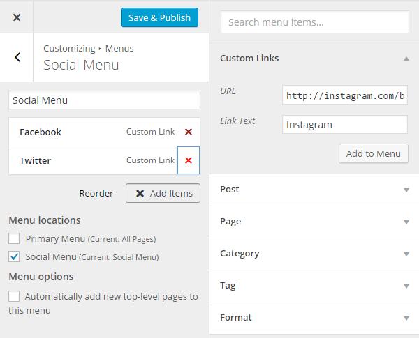 social-menu