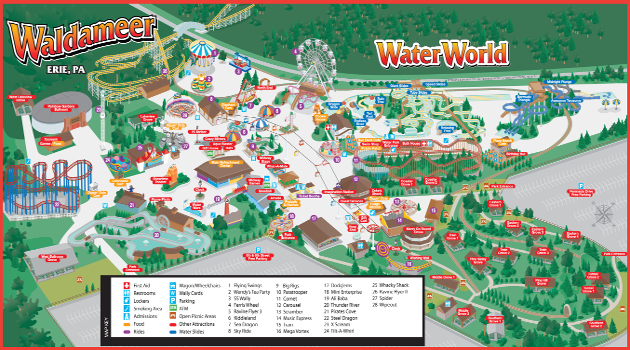 Waldameer Park Map 2013