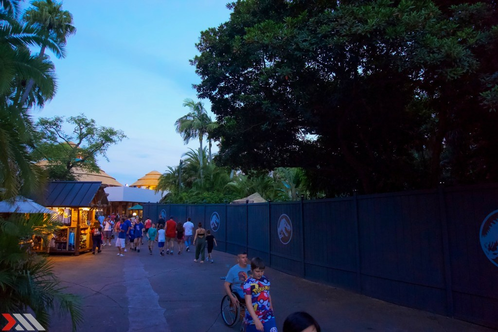 The former location of Raptor Encounter is walled off.