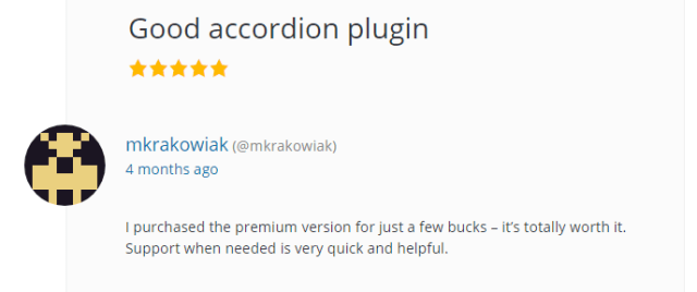Good accordion plugin
