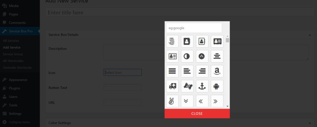 Easy Icons Picker