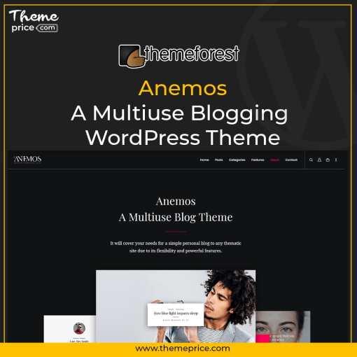 Anemos – A Multiuse Blogging WordPress Theme