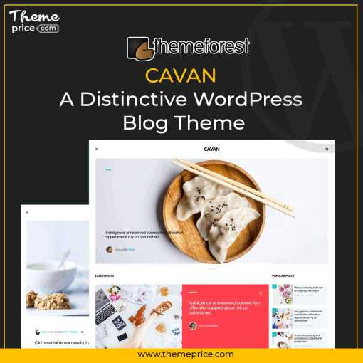 CAVAN – A Distinctive WordPress Blog Theme