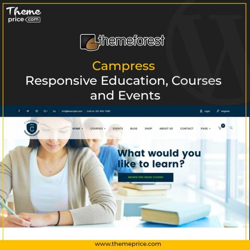 Campress – Responsive Education, Courses and Events