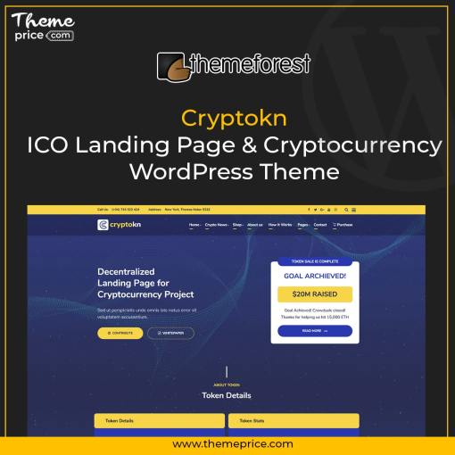 Cryptokn – ICO Landing Page & Cryptocurrency WordPress Theme