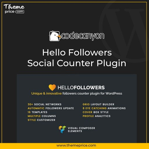 Hello Followers – Social Counter Plugin