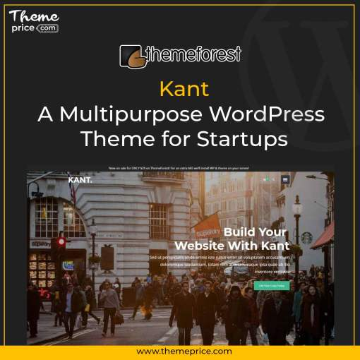 Kant – A Multipurpose WordPress Theme for Startups