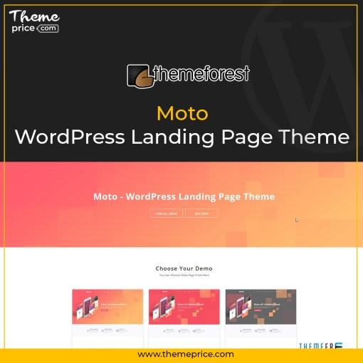 Moto – WordPress Landing Page Theme