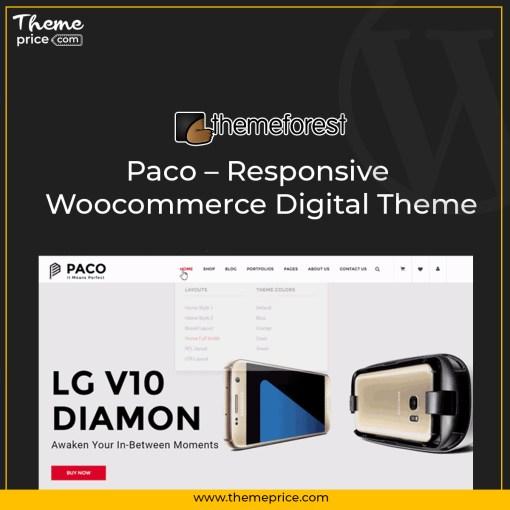 Paco – Responsive Woocommerce Digital Theme