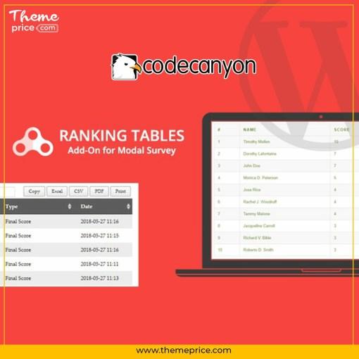 Ranking Tables – Modal Survey Add-on
