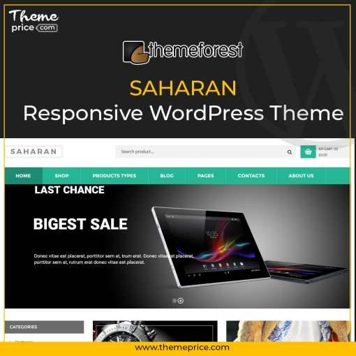 SAHARAN – Responsive WordPress Theme