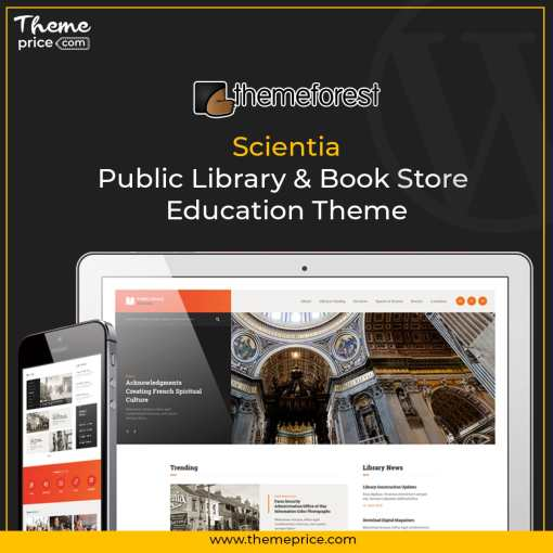 Scientia | Public Library & Book Store Education Theme