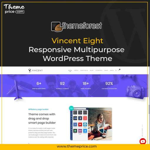 Vincent Eight | Responsive Multipurpose WordPress Theme