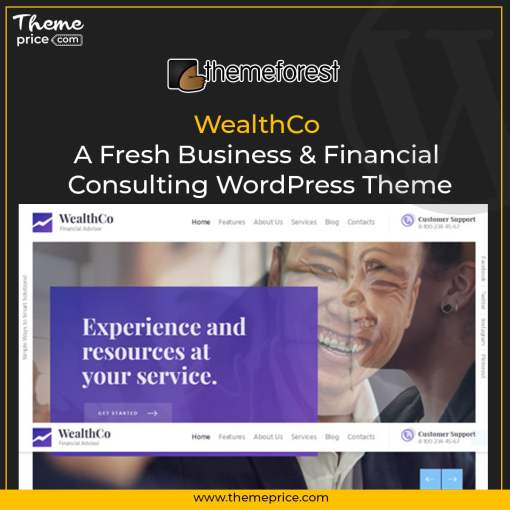 WealthCo | A Fresh Business & Financial Consulting WordPress Theme