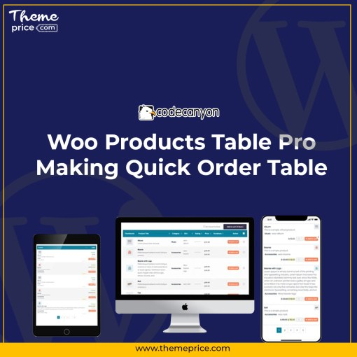 Woo Products Table Pro – Making Quick Order Table