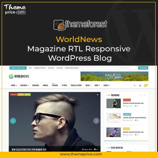 WorldNews – Magazine RTL Responsive WordPress Blog