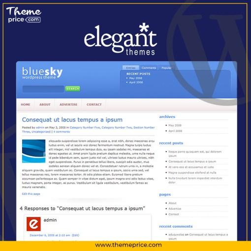 Elegant Themes BlueSky