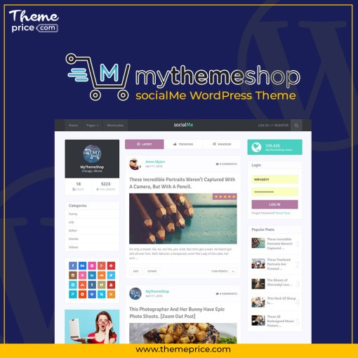 MyThemeShop socialMe WordPress Theme