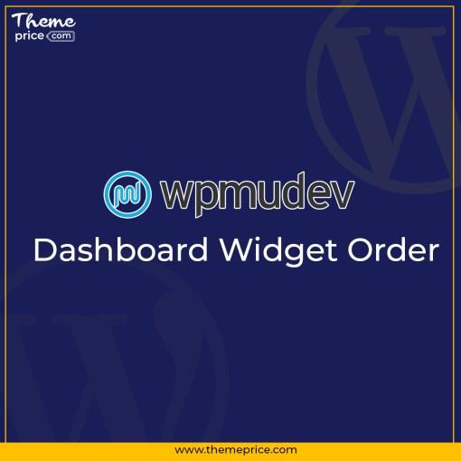 WPMU DEV Dashboard Widget Order