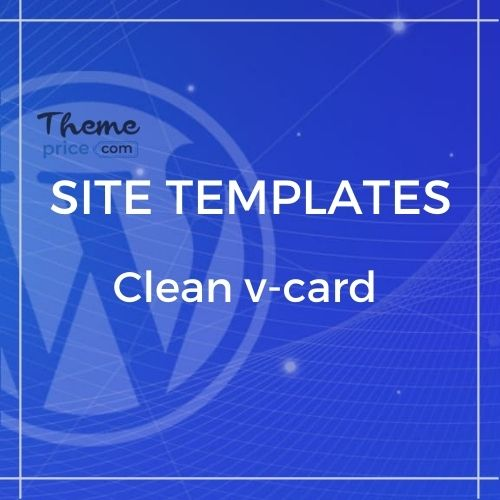 Clean Html V-card Template