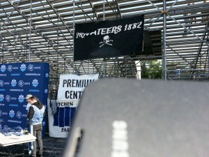 Privateers 1882 at the entrance to the centre stand.