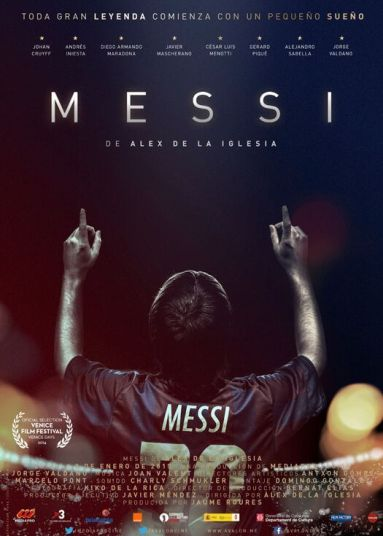 "Film poster for ""Messi""."