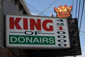 Halifax King of Donair on Pizza Corner.