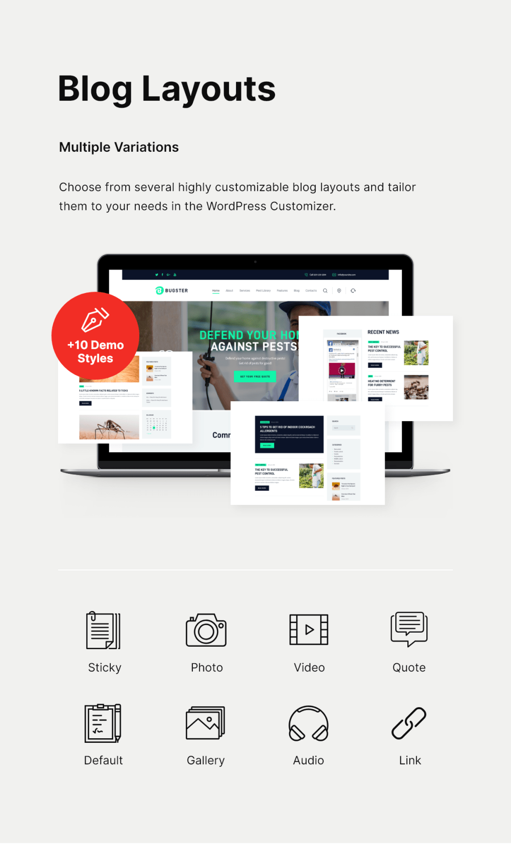 Bugster   Bugs & Pest Control WordPress Theme for Home Services - 4