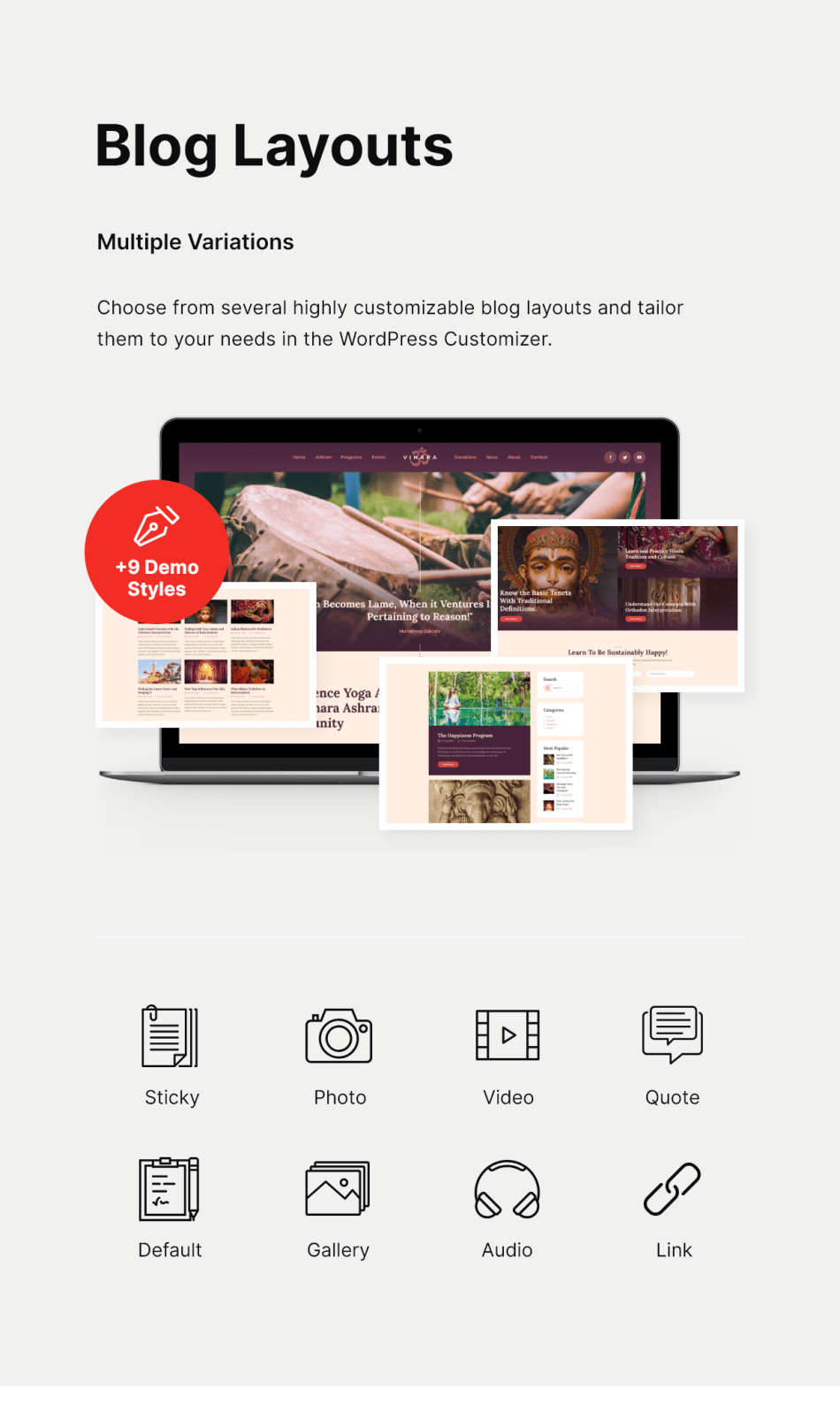 Vihara | Ashram Temple Buddhist WordPress Theme - 4