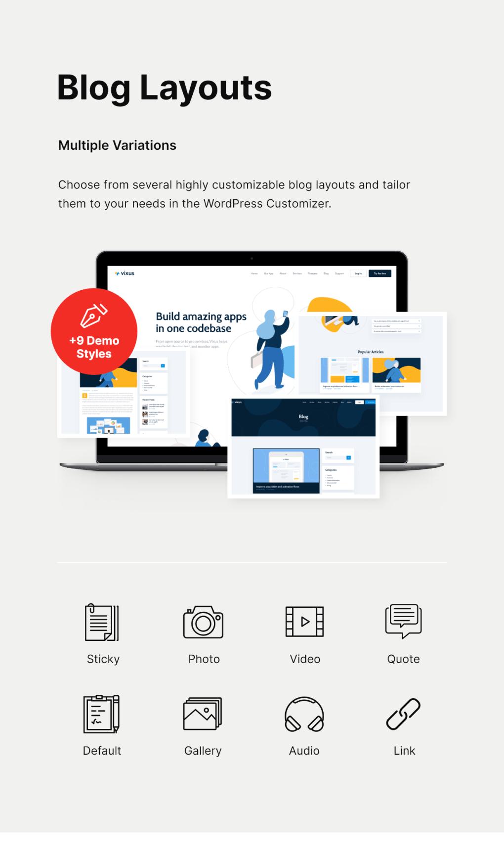 Le vixus | Startup & Mobile App WordPress landing page thème-5