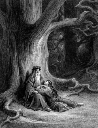 Merlino e Viviana - Gustave Doré 1868