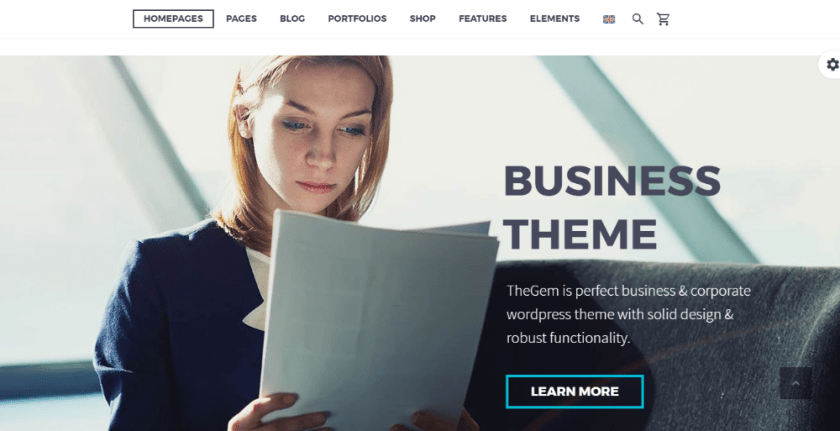 WordPress business theme TheGem