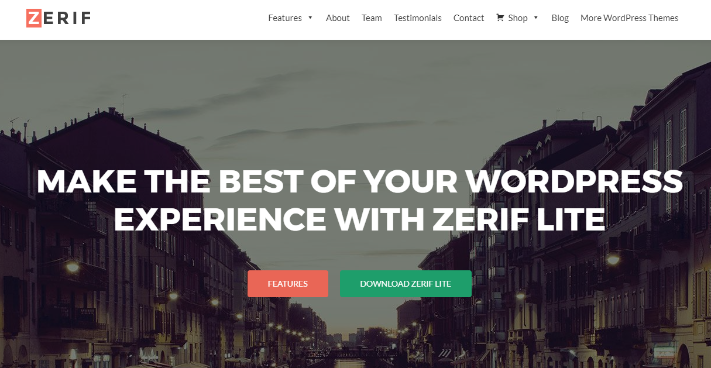 zerif free wordpress themes