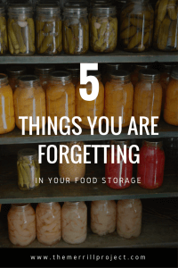 What are you forgetting in your food storage? Throughout my 7 years of gathering food storage, I have made A LOT of mistakes! Don't fall into the same trap