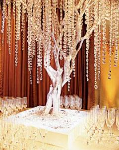 Crystal-draped tree branches