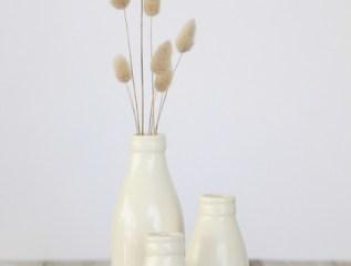 milk bottle vases, by pbaigent on felt.co.nz