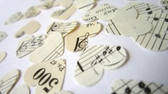 Music sheet heart confetti, from TheLonelyHeart on etsy.com