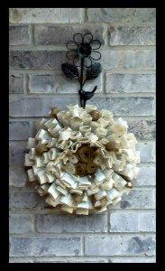 Paper wreath, by FieldsofGraceDecor on etsy.com