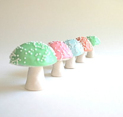 Chocolate-filled toadstools, by andiespecialtysweets on etsy.com
