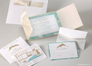 Destination beach wedding invitation set, by LamaWorks on etsy.com