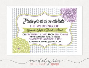 Invitation, by MadebyRin on etsy.com