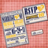 Vintage farm poster-style invitation, by InvitingMoments on etsy.com