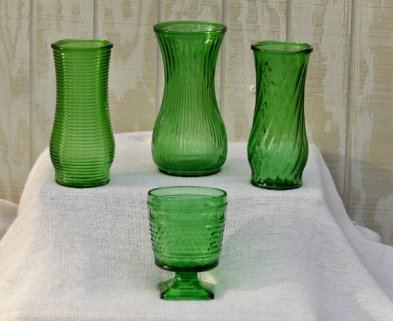Vintage vases, by TinkersVintage on etsy.com
