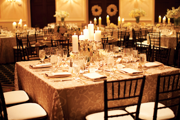 Black White And Gold Wedding Reception The Merry Bride